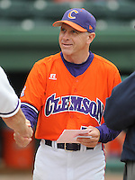 May 11, 2009: Head coach Jack Leggett (7) of the Clemson Tigers in a game against the Furman Paladins at Fluor Field at the West End in Greenville, S.C. Photo by: Tom Priddy/Four Seam Images