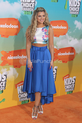 INGLEWOOD, CA - MARCH 12: Isabella Castillo at Nickelodeon's 2016 Kids' Choice Awards at The Forum on March 12, 2016 in Inglewood, California. Credit: mpi24/MediaPunch