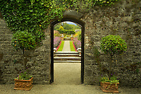 Entry into the Gardens at Dromoland Castle. Ireland