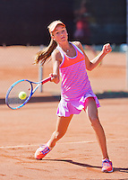 Netherlands, Rotterdam August 05, 2015, Tennis,  National Junior Championships, NJK, TV Victoria,  Julie Belgraver<br /> Photo: Tennisimages/Henk Koster