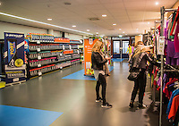 Rotterdam, Netherlands, December 17, 2016, Topsportcentrum, Lotto NK Tennis,   Dunlop Stand<br /> Photo: Tennisimages/Henk Koster