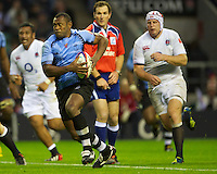 Vereniki Goneva of the Flying Fijians in action during the QBE International between England and Fiji at Twickenham on Saturday 10th November 2012 (Photo by Rob Munro)