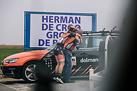 Jip Van Den Bos from Boels Dolmans,  16th Ronde Van Vlaanderen<br /> <br /> Elite Womans Race (1.WWT)<br /> <br /> One day race from Oudenaarde to Oudenaarde<br /> ©Jojo Harper for Kramon