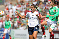 Shannon Boxx eyes the ball during the USA's 3-1 win vs Mexico in Group A of the 2008 CONCACAF Olympic Women's Qualifying Tournament  in Ciudad Juarez, Mexico, April 6, 2008.