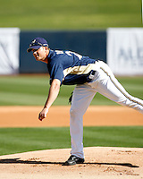 Manny Parra - Milwaukee Brewers - 2009 spring training.Photo by:  Bill Mitchell/Four Seam Images