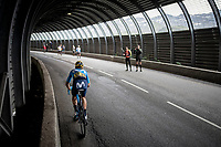 Carlos Verona (ESP/Movistar) in a tunnel 2 km from the finish in Val thorens<br /> <br /> shortened stage 20: Albertville to Val Thorens(59km in stead of the original 130km due to landslides/bad weather)<br /> 106th Tour de France 2019 (2.UWT)<br /> <br /> ©kramon