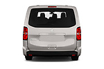 Straight rear view of a 2018 Peugeot Traveller Business 4 Door Mini Van stock images