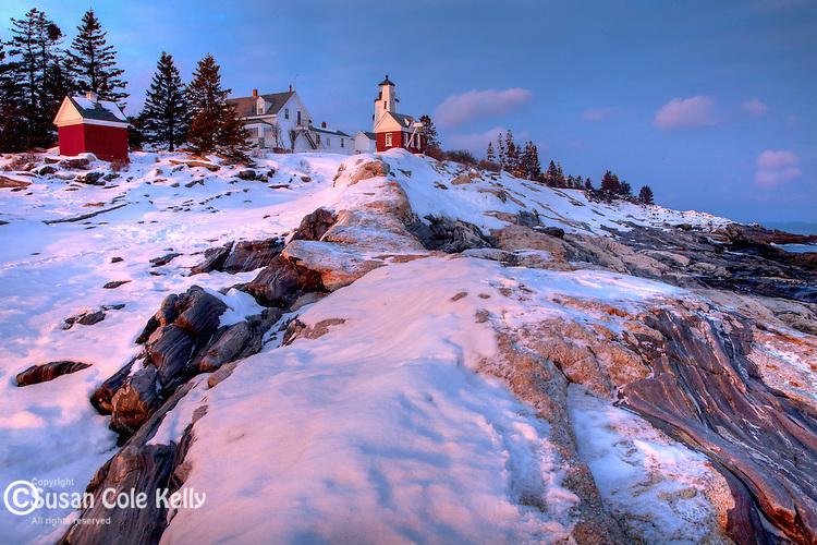Winter at Pemaquid Point Light, Bristol, ME, USA