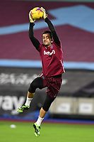 Lukasz Fabianski of West Ham United warms up during West Ham United vs Aston Villa, Premier League Football at The London Stadium on 30th November 2020