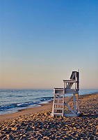 Lifeguard stand, Nauset Beach, Orleans, Cape Cod, Massachusetts, USA