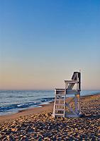 Lifeguard stand, Nauset Beach, Orleans, Cape Cod, Massachusetts, USA