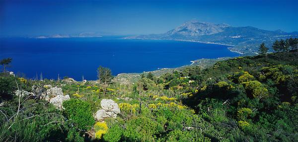 Ocean view, Samos, Greek Islands, Eastern Aegean Islands, Greece, Europe