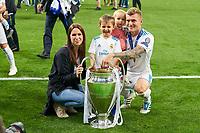 Jessica Farber, wife of  Toni KROOS, Real Madrid 8 <br /> REAL MADRID - FC LIVERPOOL<br /> Football UEFA Champions League, Finale, Kiew, Ukraine, May 26, 2018<br /> CL Season 2017 2018<br />  <br />  *** Local Caption *** © pixathlon<br /> Contact: +49-40-22 63 02 60 , info@pixathlon.de