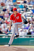 25 February 2019: Washington Nationals pitcher James Bourque on the mound during a pre-season Spring Training game against the Atlanta Braves at Champion Stadium in the ESPN Wide World of Sports Complex in Kissimmee, Florida. The Braves defeated the Nationals 9-4 in Grapefruit League play in what will be the Braves' last season at the Disney / ESPN Wide World of Sports complex. Mandatory Credit: Ed Wolfstein Photo *** RAW (NEF) Image File Available ***