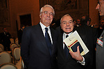 CESARE GERONZI CON GIANNI LETTA<br /> PREMIO GUIDO CARLI - SECONDA EDIZIONE<br /> PALAZZO DI MONTECITORIO - SALA DELLA REGINA ROMA 2011