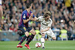 Real Madrid CF's Luka Modric and FC Barcelona's Sergio Busquets during La Liga match. March 02,2019. (ALTERPHOTOS/Alconada)