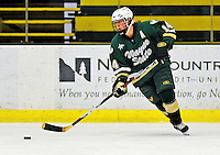 8 November 2008: Wayne State University Warriors' defenseman Tina Vanderhoeven, a Senior from London, Ontario, in action against the University of Vermont Catamounts at Gutterson Fieldhouse, in Burlington, Vermont. The Warriors shut out the Catamounts 7-0...Mandatory Photo Credit: Ed Wolfstein Photo