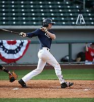 Austin Wells plays in the MLB / USA Baseball Prospect Development Pipeline game at Sloan Park on February 5, 2017 in Mesa, Arizona (Bill Mitchell)