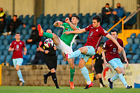 Gearoid Morrissey of Cork City with Jake Hegarty of Cobh Ramblers.<br /> <br /> Cobh Ramblers v Cork City, SSE Airtricity League Division 1, 28/5/21, St. Colman's Park, Cobh.<br /> <br /> Copyright Steve Alfred 2021.