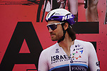 Rick Zabel (GER) Isreal Start-Up Nation at sign on before the start of Stage 5 of the 2021 UAE Tour running 170km from Fujairah to Jebel Jais, Fujairah, UAE. 25th February 2021.  <br /> Picture: Eoin Clarke   Cyclefile<br /> <br /> All photos usage must carry mandatory copyright credit (© Cyclefile   Eoin Clarke)