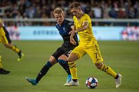San Jose, CA - Saturday August 03, 2019: Pedro Santos #7 in a Major League Soccer (MLS) match between the San Jose Earthquakes and the Columbus Crew at Avaya Stadium.