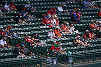 Baltimore Orioles fans spread out under social distancing rules during a Major League Spring Training game against the Philadelphia Phillies on March 12, 2021 at the Ed Smith Stadium in Sarasota, Florida.  (Mike Janes/Four Seam Images)