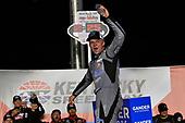 #17: Tyler Ankrum, DGR-Crosley, Toyota Tundra Academy Sports + Outdoors / RAILBLAZA celebrates his win