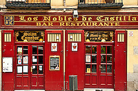 Los Nobles de Castilla bar and restaurant, Madrid, Spain.