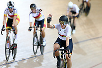 Jessie Hodges finishes first in the Women Elite Points race 20km during the 2020 Vantage Elite and U19 Track Cycling National Championships at the Avantidrome in Cambridge, New Zealand on Saturday, 25 January 2020. ( Mandatory Photo Credit: Dianne Manson )