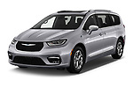 2021 Chrysler Pacifica-Hybrid LIMITED 5 Door Minivan Angular Front automotive stock photos of front three quarter view