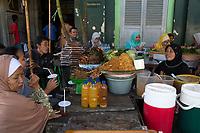 Yogyakarta, Java, Indonesia. Malioboro Street Fast Food Stand.