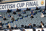 St Johnstone v Hibs…22.05.21  Scottish Cup Final Hampden Park<br />St Johnstone Chairman Steve Brown (2nd row from back centre) pictured in the stands<br />Picture by Graeme Hart.<br />Copyright Perthshire Picture Agency<br />Tel: 01738 623350  Mobile: 07990 594431