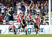 29th May 2021; Twickenham Stoop, London, England; English Premiership Rugby, Harlequins versus Bath; Danny Care of Harlequins celebrating his try