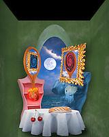 Digital illustration: Lovers/ Bread and Cherries.
