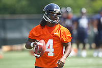 Virginia qb Vic Hall  during open spring practice for the Virginia Cavaliers football team August 7, 2009 at the University of Virginia in Charlottesville, VA. Photo/Andrew Shurtleff