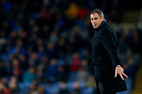 Swansea City manager Paul Clement gestures with three fingers during the Premier League match between Burnley and Swansea City at Turf Moor, Burnley, England, UK. Saturday 18 November 2017