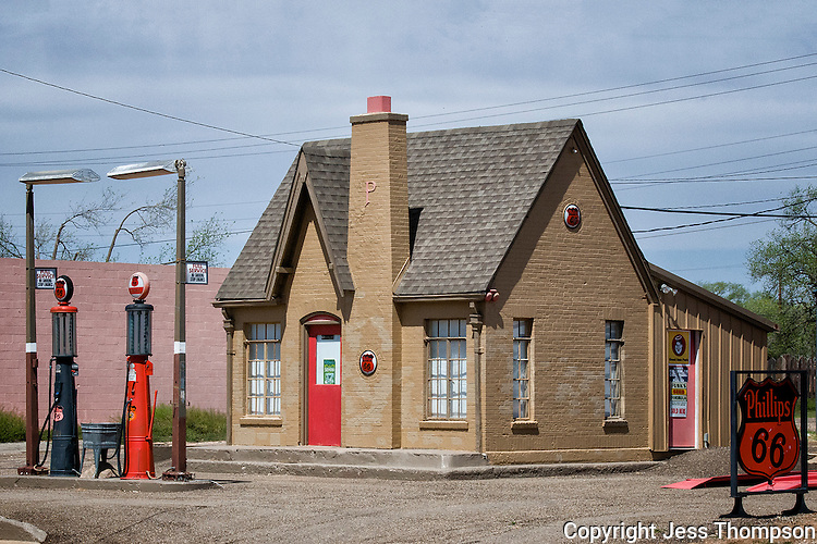 Old Gas Station in Turkey, Texas
