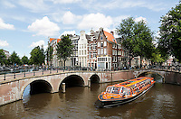 Nederland Amsterdam 2016 . Kruising Leidse Gracht  en Keizersgracht.  Foto Berlinda van Dam / Hollande Hoogte
