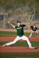 Carson Max (53), from Mitchell, South Dakota, while playing for the Athletics during the Under Armour Baseball Factory Recruiting Classic at Red Mountain Baseball Complex on December 29, 2017 in Mesa, Arizona. (Zachary Lucy/Four Seam Images)