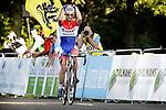 Lars van der Haar (Team Giant-Shimano) pictured climbing the Cauberg during Juniors Cyclocross World Cup race held in Valkenburg, Netherlands. 19th October 2014.<br /> Photo: Anton Vos/Cor Vos/www.newsfile.ie