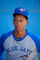 Toronto Blue Jays pitcher Nathanael Perez after an Instructional League game against the Pittsburgh Pirates on October 14, 2017 at the Englebert Complex in Dunedin, Florida.  (Mike Janes/Four Seam Images)