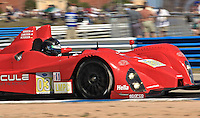 The #036 Oreca FLM09 of Jens Petersen, Dane Cameron and Michael Guasch races through a turn during qualifying for the 12 Hours of Sebring, Sebring International Raceway, Sebring, FL, March 18, 2011.  (Photo by Brian Cleary/www.bcpix.com)