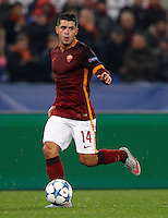 Calcio, Champions League: Gruppo E - Roma vs Bate Borisov. Roma, stadio Olimpico, 9 dicembre 2015.<br /> Roma's Iago Falque in action during the Champions League Group E football match between Roma and Bate Borisov at Rome's Olympic stadium, 9 December 2015.<br /> UPDATE IMAGES PRESS/Riccardo De Luca