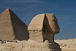 Tourists visit the great Sphinx at the Pyramids of Giza near Cairo, Egypt.