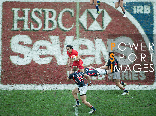 Action on Day 2 of the 2012 Cathay Pacific / HSBC Hong Kong Sevens at the Hong Kong Stadium in Hong Kong, China on 24th March 2012. Photo © Mike Pickles  / The Power of Sport Images