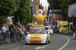 The publicity caravan passes through Boulogne-sur-Mere at the finish line of Stage 3 of the 99th edition of the Tour de France 2012, running 197km from Orchies to Boulogne-sur-Mere, France. 3rd July 2012.<br /> (Photo by Eoin Clarke/NEWSFILE)