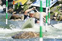 5th September 2021; Parc Olimpic del Segre, La Seu D'Urgell ICF Slalom World Cup, Men's Canoe Final;  Denis Gargaud Chanut (FRA)