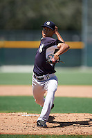 GCL Yankees East starting pitcher Juan Escorcia (63) during a game against the GCL Pirates on August 15, 2016 at the Pirate City in Bradenton, Florida.  GCL Pirates defeated GCL Yankees East 5-2.  (Mike Janes/Four Seam Images)
