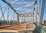 The Shelby Street Bridge in Nashville, TN used as a pedestrian walking bridge.