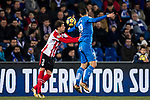 Enric Saborit Teixidor of Athletic Club de Bilbao (L) fights for the ball with Jorge Molina Vidal of Getafe CF (R) during the La Liga 2017-18 match between Getafe CF and Athletic Club at Coliseum Alfonso Perez on 19 January 2018 in Madrid, Spain. Photo by Diego Gonzalez / Power Sport Images